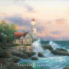 Thomas Kinkade Beacon of Hope Lithograph