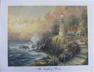Thomas Kinkade The Light of Peace Lithograph