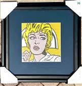 Roy Lichtenstein Nurse Hand Signed Framed Bookpg
