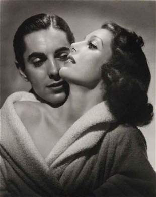 George Hurrell Loretta Young &Tyrone Power Photolith