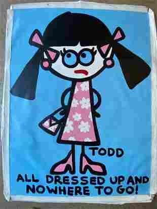 Todd Goldman All Dressed Up Original Canvas Acrylic