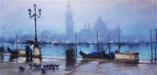 Vakhtang EVENING STROLL SAN GIORGIO Giclee on canvas LE