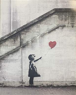Banksy - Girl with Red Balloon Framed Offset Lithograph