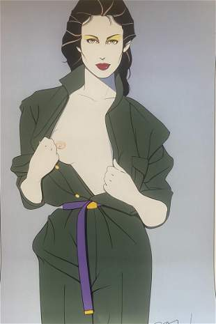 Patrick Nagel Trench Coat Playboy Offset Lithograph