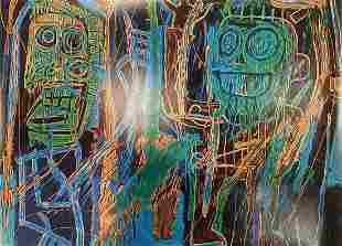 Jean Michel Basquiat Dustheads Offset Lithograph
