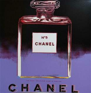 ANDY WARHOL   Chanel Number 5 Screenprint