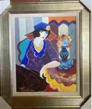Itzchak Tarkay - Framed Original Oil on Canvas