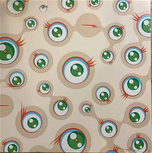 Takashi Murakami Jellyfish Eyes Cream L/E H/S Litho