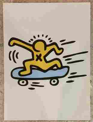 Keith Haring Skateboard Giclee on Paper