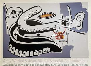 Andy Warhol Jean Michel Basquiat Offset Lithograph