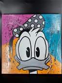 Paulina Del Mar - Donald Duck Stretched Acrylic Disney