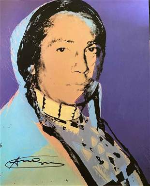Andy Warhol Indian Yellow Hand Signed Lithograph