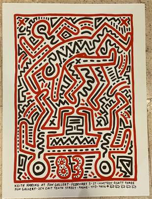 Keith Haring Fun Gallery Giclee on Paper
