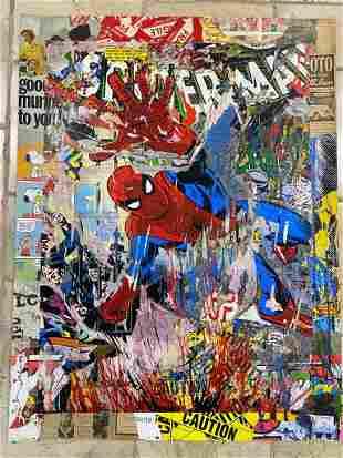 Mr. Brainwash Spiderman Original Mix Media