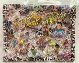 Charles Fazzino Rockin n Rollin 3D Serigraph