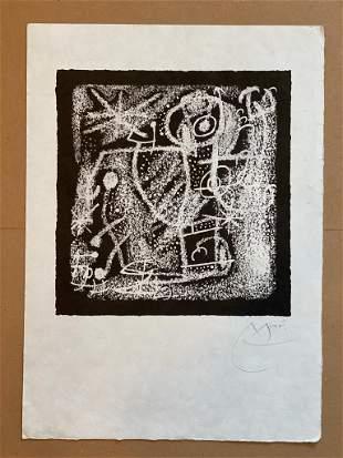 Joan Miro Les Essencies de la Terra HS Litho FRAMED
