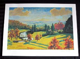 Sir Winston Churchill View of Chartwell LE Lithograph