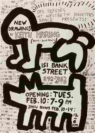 Keith Haring Bank Street Giclee on Paper
