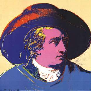 Andy Warhol GOTHE LE Lithograph Fire Sale