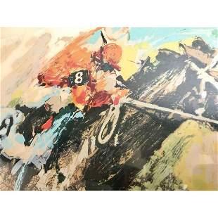 Wayland Moore Horse Race HC Lithograph LE