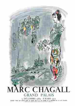 Marc Chagall Magician of Paris Litho on Paper