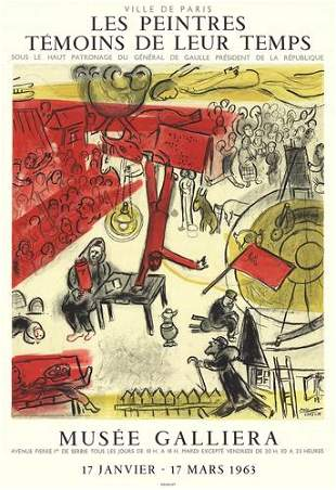 Marc Chagall The Revolution Lithograph on Paper