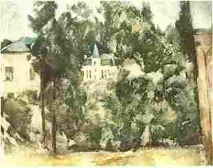 Paul Cezanne MAISON ET PAYSAGE LE w/o # Etching LE