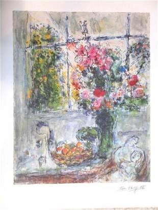 Marc Chagall Still Life with Flowers Lithograph