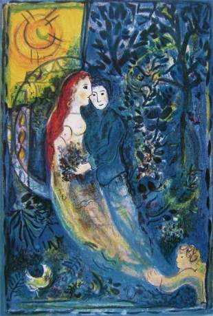 Marc Chagall The Wedding Lithograph