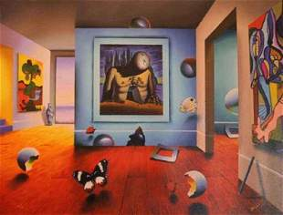 Ferjo Homage to Dali AP Giclee on canvas LE