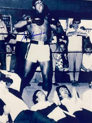 Autographed Muhammad Ali & The Beatles Photo