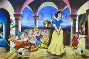 Ferjo Snow White Original Oil on Stretched Canvas