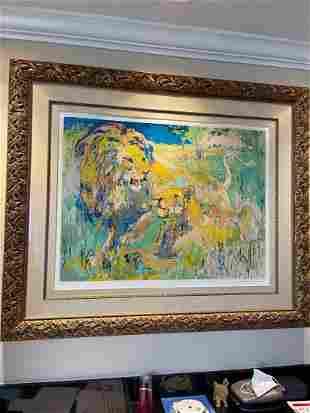 Leroy Neiman - Lion Couple H/S LE Serigraph Framed