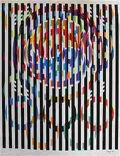 YAACOV AGAM MESSAGE OF PEACE SERIGRAPH