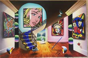 Ferjo Untitled II Original Oil on Stretched Canvas