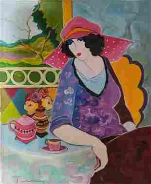 Itzchak Tarkay - Untitled 02 Original Oil on Canvas
