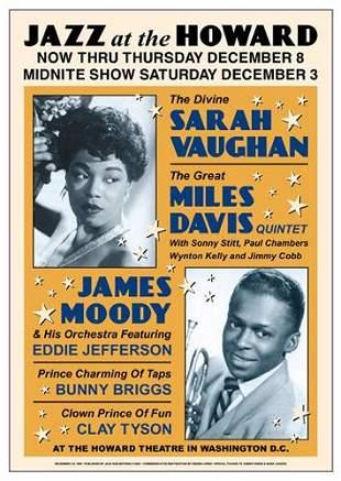 Sarah Vaughan & Miles Davis Jazz at the Howard FRAMED