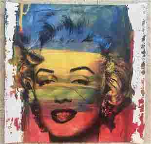 Mr. Brainwash Marilyn Original Mix Media on Paper