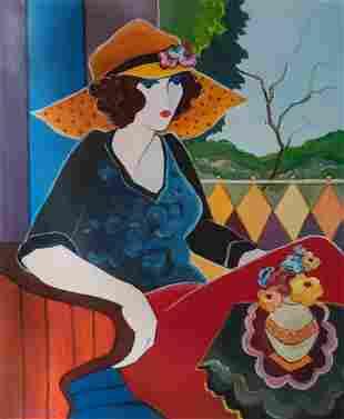 Itzchak Tarkay - Untitled 00 Original Oil on Canvas