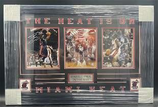 Shaquille and Dwyane Wade Custom Framed Autographs