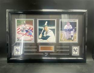 Mickey Mantle The Commerce Comet Framed Autograph