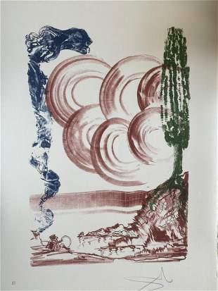 Salvador Dali - Colibri H/S Lithograph on Paper