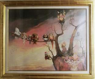 Charles Ray Bragg - Aviary - Framed Original Oil