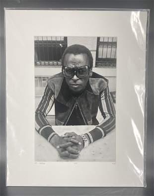 Don Hunstein Miles L/E Photo COA Numbered Miles Davis