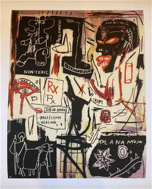 Jean Michel Basquiat Melting Point of Ice Giclee