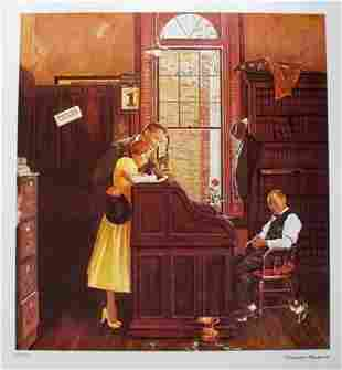 Norman Rockwell Marriage Contract Facsimile Signed