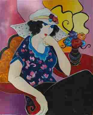 Itzchak Tarkay - Untitled 97 Original Oil on Canvas
