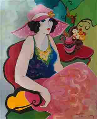 Itzchak Tarkay - Untitled 96 Original Oil on Canvas
