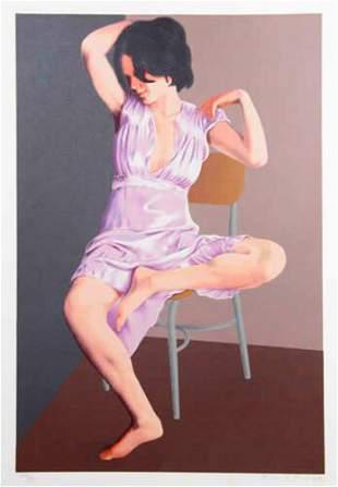 Flavio Cabral - Seated Woman L/E H/S Serigraph on Paper