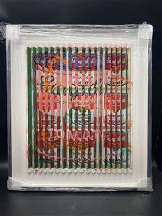 E.M. Zax Soup Can One-of-a-kind 3D polymorph on Paper